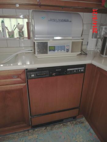 交換前ビルトイン食洗機 ナショナル製NP-9102BL 横幅60cm
