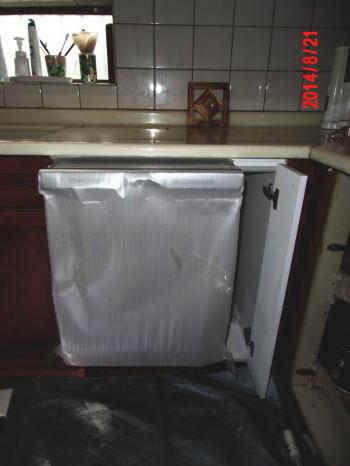交換用ビルトイン食洗機NP-45MC6T(横幅45cm)を組み込み