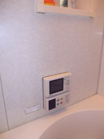 リモコン一体型浴室テレビ リンナイ製MV-410A、MV-410Bタイプ