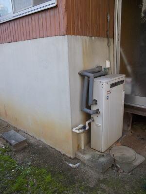 既設:リンナイ製ふろ給湯器RFSシリーズ。おいだき2つ穴タイプ