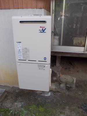 交換完了 リンナイ製ふろ給湯器 RUF-A2003SAW(A)