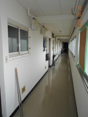 廊下側(着工前)