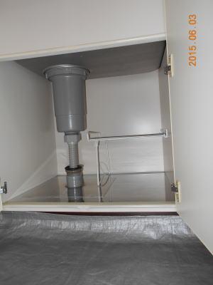 流し台に点検口が無いので混合栓の点検、修理ができない