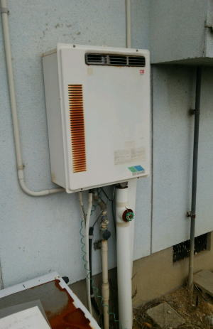 既設 ノーリツ製の給湯能力20号のふろ給湯器GT-201AW