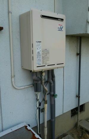 給湯器とリモコンが入荷して本工事完了です。給湯器はRUF-A2000SAW(A)