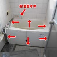 RUF-HVシリーズ壁貫通設置タイプ(ホールインワンタイプ)のガス給湯器の修理(既設)