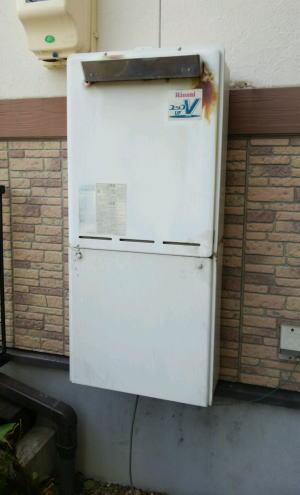 既設:リンナイ製の壁掛け式ふろ給湯器RUFシリーズ