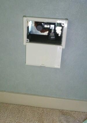 新しいガス元栓『壁取替用ガスコンセントF型(光洋産業製)』を取り付け