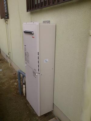 おいだき1つ穴式のふろ給湯器RUF-A2005AWを壁掛け設置して取替完了