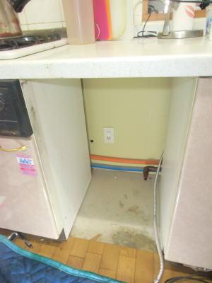 既設の食洗機を撤去