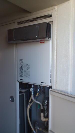 商品、部材が入荷後、本工事完了 RUF-A1615SAW+側方排気アダプタ