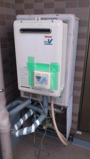 貸出用の給湯器を仮設(無料)