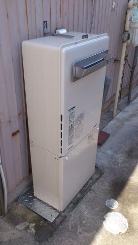 新しいふろ給湯器RUF-A2005AW(A)、部材が入荷後、取り付けて完了