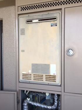既設:リンナイ製暖房ふろ給湯器HT245RA-S(パイプシャフト標準設置)
