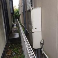 既設:ノーリツ製ふろ給湯器GT-2027SAWX(壁掛け標準設置)