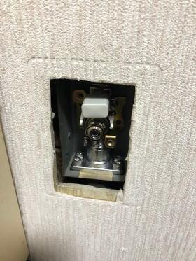 『壁取替ガス栓 543用 9.5A』のガス栓本体部分の交換が完了