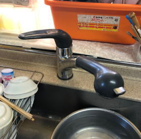 松下電工のシステムキッチン用シングルレバー混合栓【SE54SK カウンター穴が大きいタイプ、ワンホールタイプ】