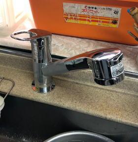 取替完了 TOTO製TKGG31EB(シャワーホースは伸びないタイプ)