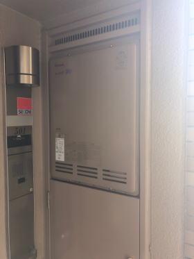 既設リンナイ製RUF-2000SAB PS設置後方排気型(エントツの点検スペースなし)