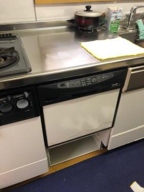 既設:リンナイ製のビルトイン食洗機RKW-456C(スライドオープンタイプ)