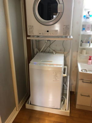 一戸建ての洗面室にガス衣類乾燥機RDT-54Sを新設