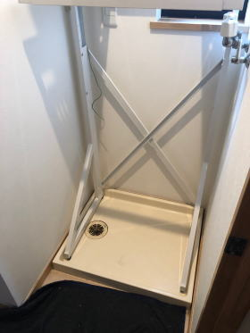 ユニット台(置台)を決めた大きさに組み立てて設置